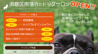 dog salon:kobe CARE様チラシ
